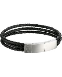 Fossil - Multi-strand Leather Bracelet - Lyst
