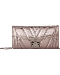 MCM - Patricia Quilted Flap Wallet/bifold Large On A Chain (black) Handbags - Lyst