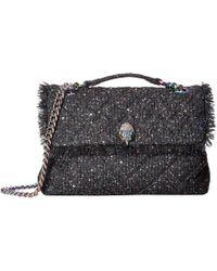 Kurt Geiger - Tweed Large Kensington Bag (black) Bags - Lyst