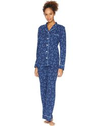 Life Is Good. - Sleep Set (darkest Blue) Women's Pajama Sets - Lyst