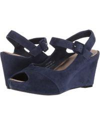 Johnston & Murphy - Tara (navy Kid Suede) Women's Shoes - Lyst