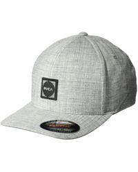 678d7865 RVCA - Scores Flexfit Hat (heather Grey) Baseball Caps - Lyst
