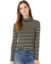 Cupcakes And Cashmere - Fantasia Metallic Stripe Top (black) Women's Clothing - Lyst