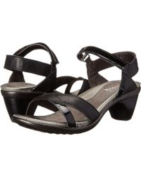 c4957a648323 Naot - Cheer (jet Black Leather black Patent Leather) Women s Dress Sandals  -