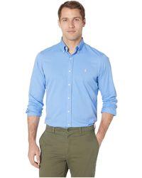 4de3e341ab4f Polo Ralph Lauren - Long Sleeve Classic Fit Garment Dyed Chino (polo Black)  Men s