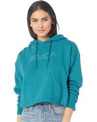 RVCA - Pinner Hoodie (spruce) Women's Sweatshirt - Lyst