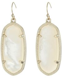 Kendra Scott - Elle Earring (gold/rose Quartz) Earring - Lyst