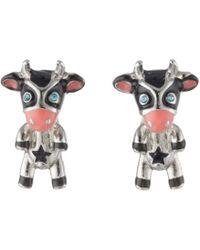 Betsey Johnson - Cow Stud Earrings - Lyst