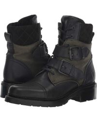 4e9aed0d3e2b44 Frye - Samantha Belted Hiker (black Multi Tumbled Full Veg canvas suede)