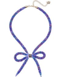 Betsey Johnson - Dark Shadows Bow Frontal Necklace (bright Multi) Necklace - Lyst