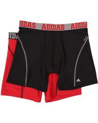 adidas - Sport Performance Climacool 2-pack Boxer Brief (light Onix/blue/night Grey/light Onix/blue) Men's Underwear - Lyst