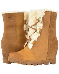 e1db4a24c61 Sorel - Joan Of Arctictm Wedge Ii Shearling (camel Brown) Women s  Waterproof Boots -