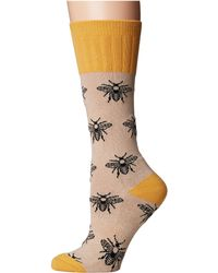 Socksmith - Bee (oatmeal) Women's Crew Cut Socks Shoes - Lyst