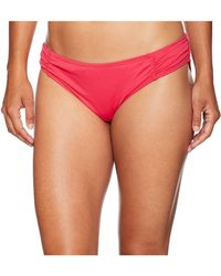 MICHAEL Michael Kors - Solids Side Shirred Bikini Bottom (new Navy) Women's Swimwear - Lyst
