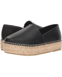 68a2d756985 Steve Madden - Prisila Espadrille Flat (black Leather) Women s Shoes - Lyst