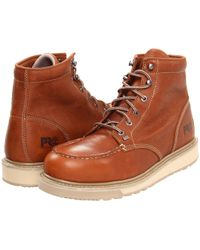 Timberland - Barstow Wedge Soft Toe (rust) Men's Work Boots - Lyst
