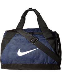 Nike - Brasilia Small Duffel Bag (rush Pink/black/white) Duffel Bags - Lyst