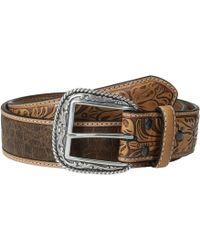 Ariat - Croc Design Belt (tan) Men's Belts - Lyst