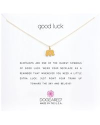 Dogeared - Good Luck Elephant Reminder Necklace (gold Dipped) Necklace - Lyst