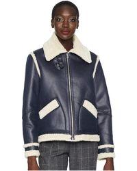 Paul Smith - Shearling Coat (black) Women's Coat - Lyst