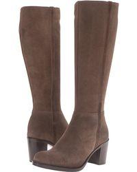 La Canadienne - Phebe Suede Chunky-heel Knee Boot - Lyst