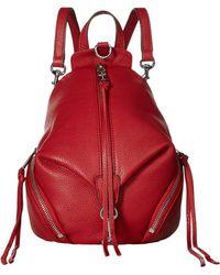 Rebecca Minkoff - Convertible Mini Julian Backpack (dusty Peach) Backpack Bags - Lyst
