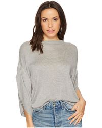 Bishop + Young - Ruffle Sleeve Sweater (heather Grey) Women's Sweater - Lyst