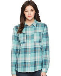 The North Face - Long Sleeve Castleton Shirt (bristol Blue Sierra Plaid) Women's Long Sleeve Button Up - Lyst