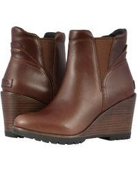 Sorel - After Hours Chelsea (black Leather) Women's Waterproof Boots - Lyst