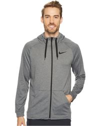 d61b71f4396b5 Lyst - Nike Dry Running Hoodie in Gray for Men