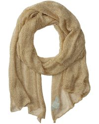 Betsey Johnson - Blue By Betsey Love Liquid Mesh Wrap (silver) Scarves - Lyst