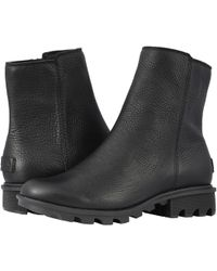 Sorel - Phoenixtm Zip (black Full Grain Leather) Women's Zip Boots - Lyst