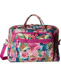 Vera Bradley - Iconic Grand Weekender Travel Bag (superbloom) Weekender/overnight Luggage - Lyst