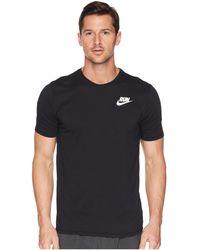 Nike - Dry Tee Dri-fittm Solid Swoosh 18 (dark Grey Heather/white) Men's T Shirt - Lyst