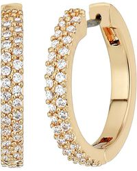 Kate Spade - Save The Date Pave Huggie Earrings - Lyst