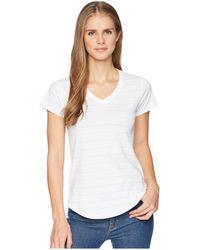 Mountain Khakis - Cora Short Sleeve Crew (haze Stripe) Women's Clothing - Lyst