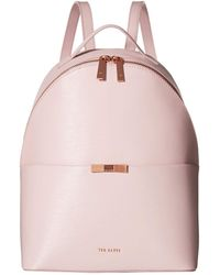 a2ea743ea Lyst - Ted Baker Mini Jarvis Leather Backpack in Pink