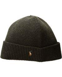 Polo Ralph Lauren - Signature Merino Cuff Hat (dark Loden) Caps - Lyst b9baaba5f631