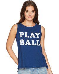 The Original Retro Brand - Play Ball Slub Sleeveless Tank Top (cobalt) Women's Sleeveless - Lyst