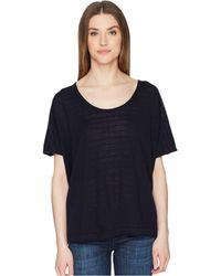 Vince - Textured Stripe Short Sleeve (coastal) Women's Short Sleeve Pullover - Lyst
