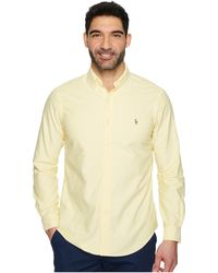 Polo Ralph Lauren - Standard Fit Oxford Sport Shirt (blue/white Gingham) Men's Clothing - Lyst