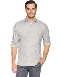 Psycho Bunny - Long Sleeve Flannel Shirt (heather Grey) Men's Clothing - Lyst