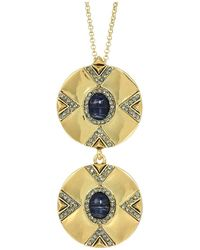 House of Harlow 1960 - Dorelia Double Coin Necklace (gold) Necklace - Lyst