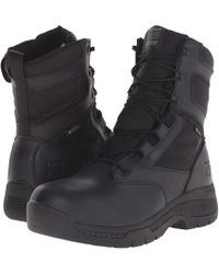 Timberland - 8 Valortm Duty Soft Toe Waterproof Side-zip (black) Men's Work Lace-up Boots - Lyst