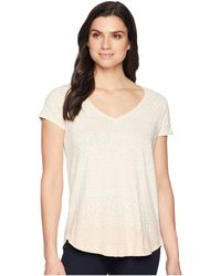 Lucky Brand - Ombre Tile Print Tee (coral Multi) Women's T Shirt - Lyst
