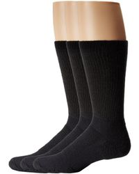 Thorlo - Walking Crew 3-pair Pack (black) Crew Cut Socks Shoes - Lyst
