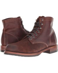 Wolverine - 1000 Mile 6 Evans Boot (dark Brown Leather/suede) Men's Dress Lace-up Boots - Lyst