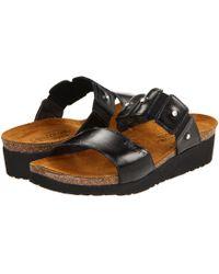 Naot - Ashley (black Madras Leather) Women's Sandals - Lyst