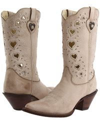Durango - Crush Heart (light Taupe) Cowboy Boots - Lyst