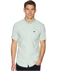RVCA - That'll Do Stretch Short Sleeve Woven (dusty Yellow) Men's Clothing - Lyst
